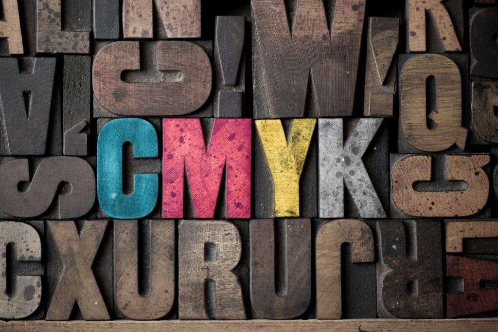 CMYK Letterpress letters